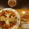 ピノ - 料理写真:ランチセット、マルゲリータ、チーズケーキ、ブレンドコーヒー