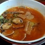 38291414 - トマチリdeアサリ(780円)辛味・酸味とも調和されたスープです