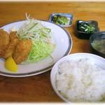 ふじ茂 - 料理写真:かきフライ定食 1300円