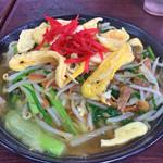 我部祖河食堂 - 野菜そば(大)¥550