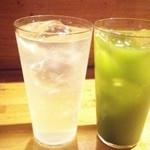香魚 - レモンサワーと緑茶ハイ