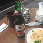 チャオバンブー - ビンタンビール。こちらもエスニック系に欠かせないお供。