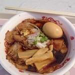 肉そばけいすけ 恵み野店 - 醤油+味付け卵トッピング(+100円)