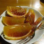 希文 - サービスのブラッドオレンジ始めていただきました。