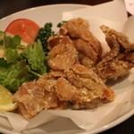 餃子日和わらん 越後のわらやき家 - ハーブ鶏のから揚げ