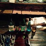 千年一酒造 - 左から、原酒、大吟醸、普通、