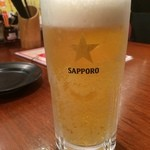 たんびに亭 - サッポロ黒ラベル250円