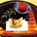 38306492 - 若狭のぐじの揚げ物                        トマトの酢漬け