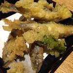 魚真 - 稚鮎の天ぷら