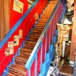 Teppan 我流 - 階段を上がって2Fへ