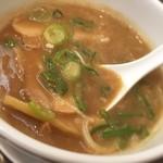 麺ダイニング 福 - つけ汁は豚骨魚介の濃厚スープ