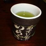 おすし家のいらぶ - お茶