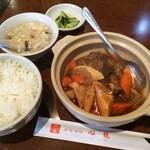 38321700 - ランチ⑨牛スネとアキレス土鍋煮  この他に杏仁豆腐とコーヒー付きます。