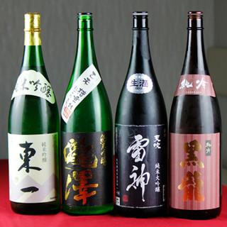 焼鳥片手に日本酒をクイっと!全国の銘酒揃えました!