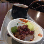 カフェギャラリー柚 - 15時を過ぎていたのにデザートとコーヒーをつけてくださいました