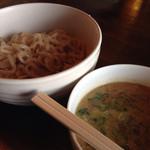 酪 - 忍海酪農つけ麺(具なし並)700円