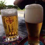 花人逢 - ノンアルとビール