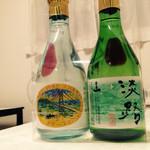 千年一酒造 - 左 純米酒、右 原酒