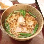 孔子膳堂 - <'15/05/23撮影>孔子鰻御膳 1000円 のミニ蒸し鶏生姜ラーメン