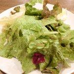 ビステッカ - ≪'15/05/23撮影≫ハーブ三元豚のローストポークと名物ラザニアのセット 1000円 のサラダ