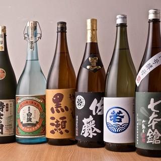 お料理に合う九州の地酒を揃えております。