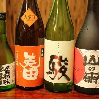 福岡の地酒も各種揃えております!