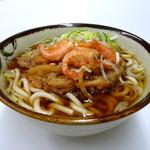 金澤8キッチン - 料理写真:徳光うどん(¥600) 自家製だしと甘エビかき揚げがベストマッチ!