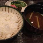 白樺 - ご飯は妙高産コシヒカリ煌