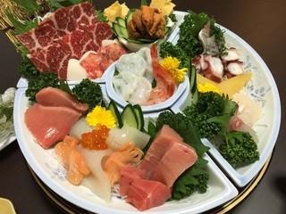 銀寿司 - お刺身盛り合わせ