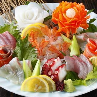新鮮鮮魚刺し盛り