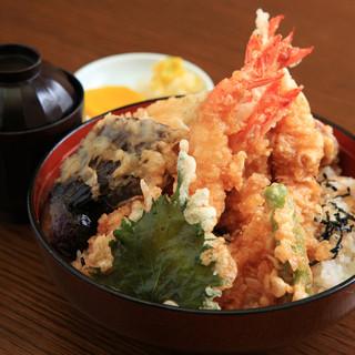 海老天丼定食