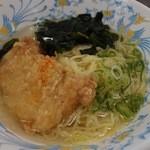 琉球大学生活協同組合 中央食堂 - 料理写真:鶏もも肉の七味風味湯麺(390円)