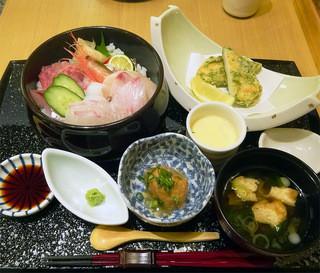 新伝馬町 さゝぶ - 彩り海鮮丼玉手箱