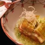 星のや 京都 ダイニング - 炊合 加茂茄子と穴子酒煮の博多