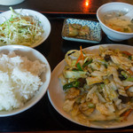 同福居 - 豚肉野菜炒め定食