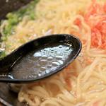 麺屋 軌跡 - 海老塩ラーメンのスープ '15 4月中旬