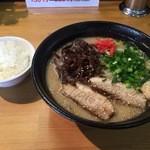 麺厨房 かくれ屋 - 白湯塩ラーメン・大盛880円