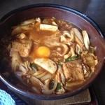 徳乃家 - 味噌煮込みうどん(ピリ辛)