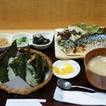 おにぎりのさんかく山 - 焼き魚定食