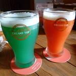ローカルシックス - 【ブルービール 600円】・【ブラッドオレンジビール 600円】