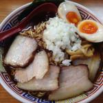 拉通 - 竹岡式ラーメンと味玉トッピング¥800