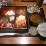 toukyousakebaruambai - 2015年5月ランチの松花堂弁当