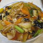 水新菜館 - あんかけ焼きそば 具大盛り、麺大盛り
