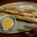 魚菜 - お勧め笹竹の子焼き