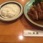 38390678 - ポークカツレツ(大)(¥1300)/ ライス(¥200)
