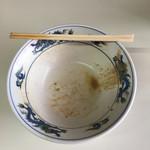 38390865 - 山為食堂(和歌山市福町)完食,完汁が何より旨さの証