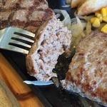 ビッグボーイ 宮前平店 - 極上ハンバーグ。                             肉汁じゅわ~のふんわりハンバーグ。