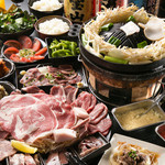 ヂンギス邸 - 料理写真:おまかせコースはボリューム満点です<3,500円 飲み放題(2.5H)はプラス1,600円で!>