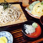 しずく庵 - 料理写真:天ざるセット 900円