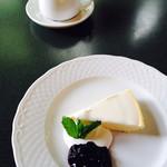 山のレストラン - ニルバーナチーズケーキ、コーヒー